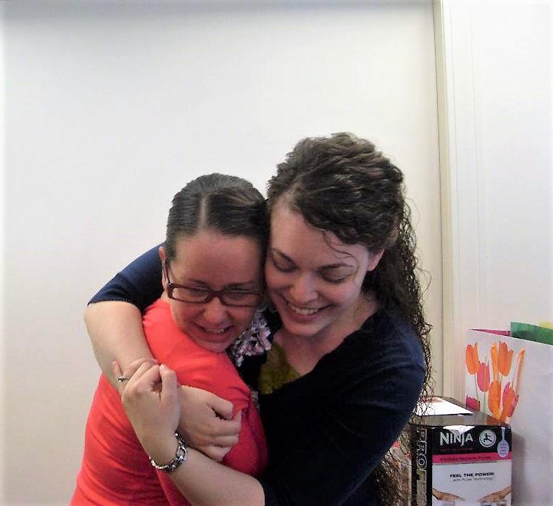 hugging denelle